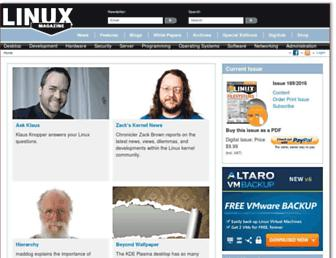linux-magazine.com screenshot