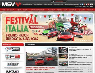 Main page screenshot of motorsportvision.co.uk