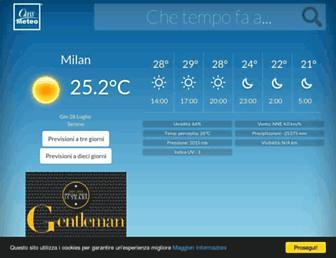 Main page screenshot of classmeteo.it