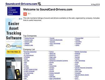 soundcard-drivers.com screenshot