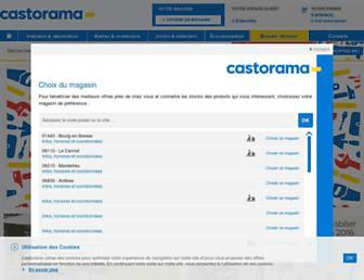 Main page screenshot of castorama.fr