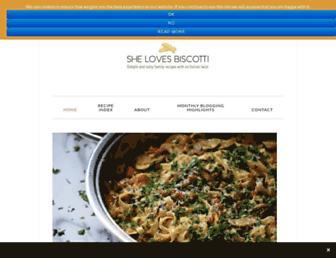 shelovesbiscotti.com screenshot
