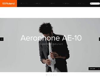 eg.roland.com screenshot