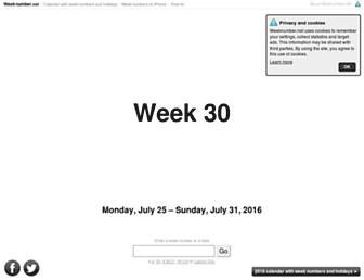 weeknumber.net screenshot