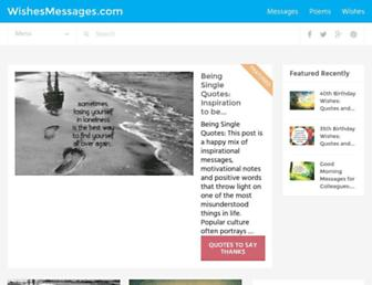 wishesmessages.com screenshot