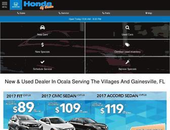 hondaofocala.com screenshot