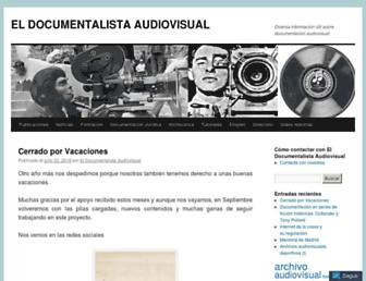 eldocumentalistaudiovisual.com screenshot