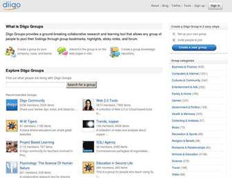groups.diigo.com screenshot