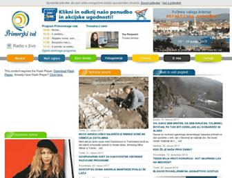 Main page screenshot of radio-cerkno.si