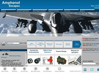amphenol-socapex.com screenshot