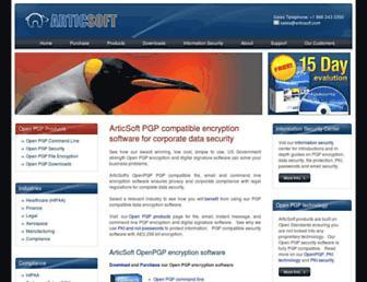 articsoftpgp.com screenshot