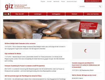 Main page screenshot of www3.giz.de