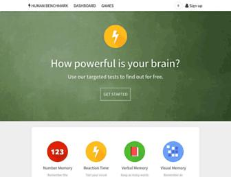 Thumbshot of Humanbenchmark.com