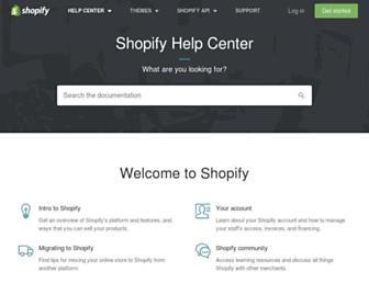 help.shopify.com screenshot