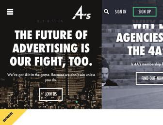 Main page screenshot of aaaa.org