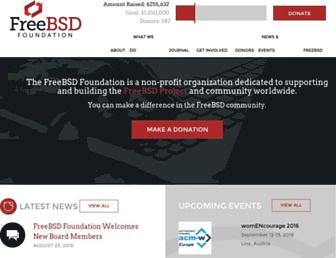 Main page screenshot of freebsdfoundation.org