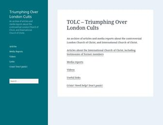 Main page screenshot of tolc.org