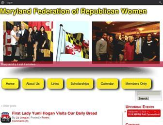 Main page screenshot of mfrw.org