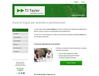 Main page screenshot of tjtaylor.net