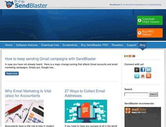 blog.sendblaster.com screenshot