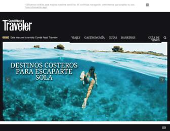 Main page screenshot of traveler.es