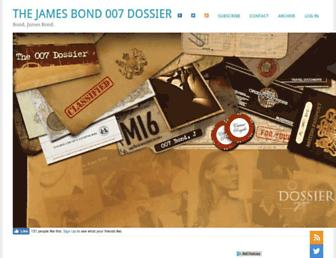 the007dossier.com screenshot