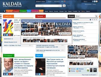Main page screenshot of kaldata.org
