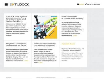 Main page screenshot of tudock.de
