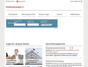 klinikbewertungen.de screenshot
