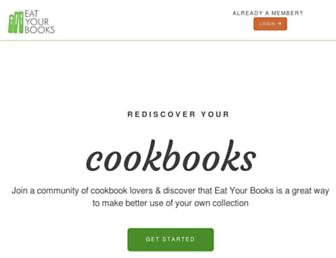 eatyourbooks.com screenshot