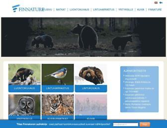 Main page screenshot of finnature.fi