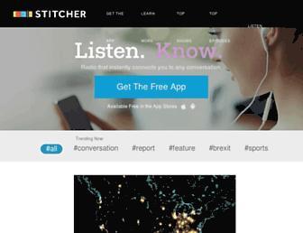 stitcher.com screenshot