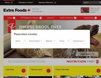 extrafoods.ca screenshot