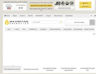 newdirectionsaromatics.com screenshot
