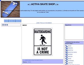 activaskateshop.blogspot.com screenshot