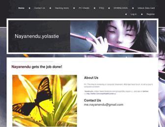 nayanendu.yolasite.com screenshot