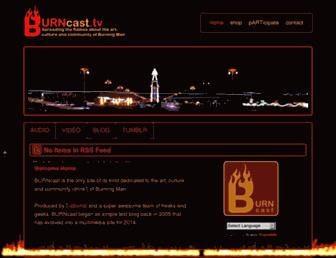 Main page screenshot of burncast.tv