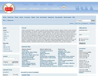Main page screenshot of palba.cz