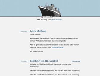 Main page screenshot of codecandies.de