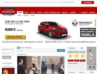 Main page screenshot of tion.ro