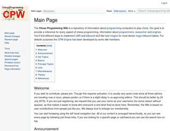 chessprogramming.org screenshot
