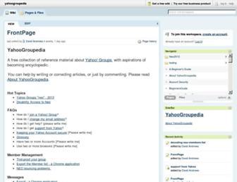 yahoogroupedia.pbworks.com screenshot
