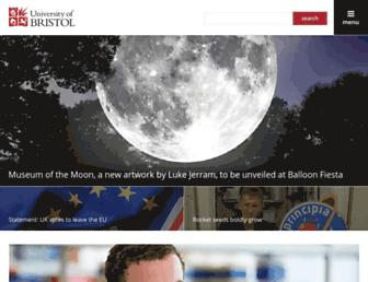 Main page screenshot of bris.ac.uk