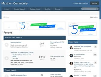 forum.maxthon.com screenshot