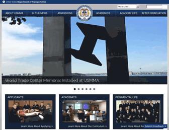 usmma.edu screenshot