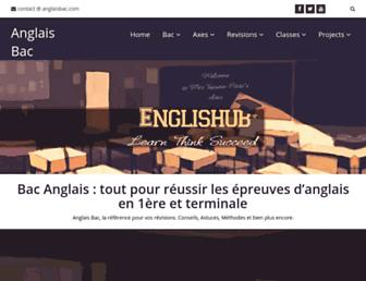 anglaisbac.com screenshot