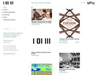Main page screenshot of iam2.tugraz.at