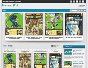 newcheats14.blogspot.com screenshot