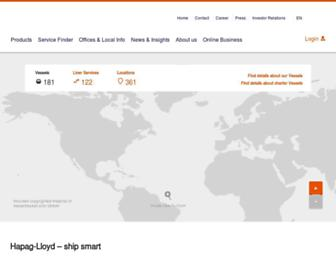 hapag-lloyd.com screenshot
