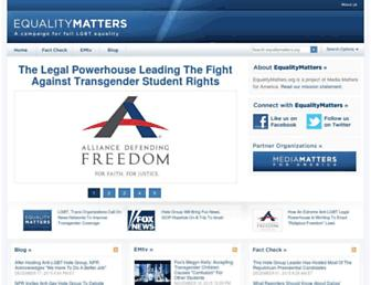Main page screenshot of equalitymatters.org